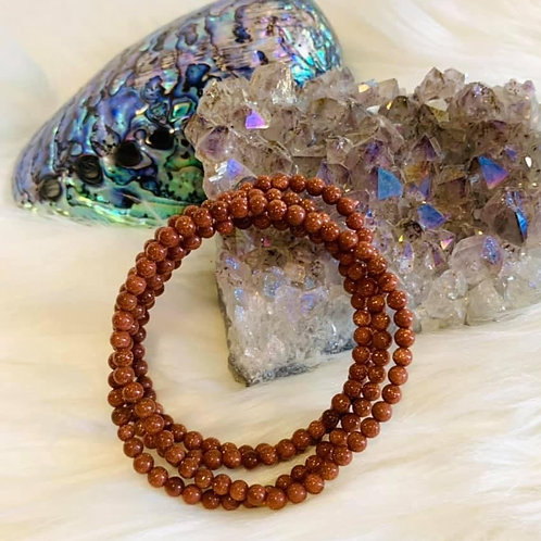 Goldstone Bracelet 4mm