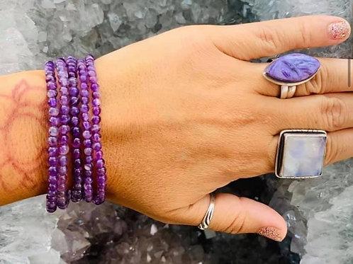Amethyst Bracelet 4mm