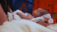 newborn sees mom