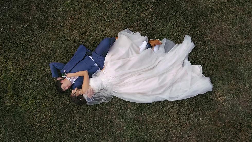 wedding drone photo