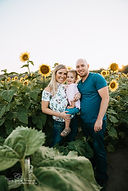 family sunflower field