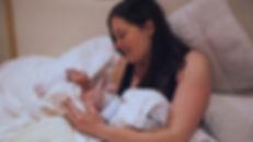 mom happy to meet her newborn