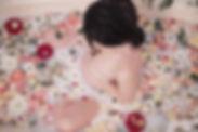 rose petals milkbath