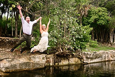 wedding cenote trash the dress