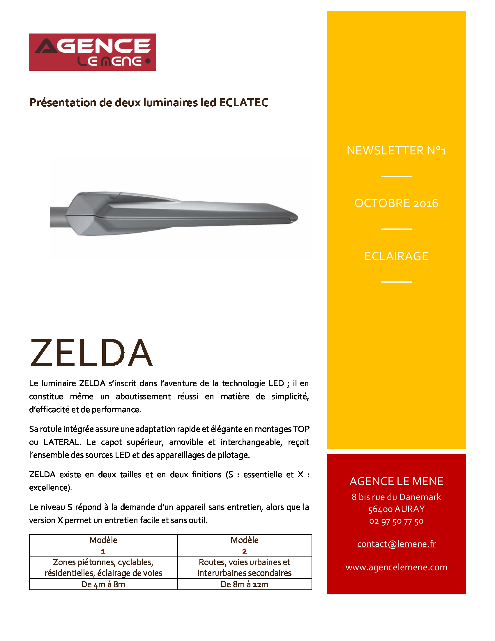 Newsletter Octobre 2016