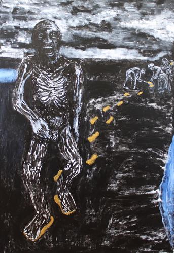 Midas Breaking Down, 46x30_, acrylic on canvas, 2017.JPG