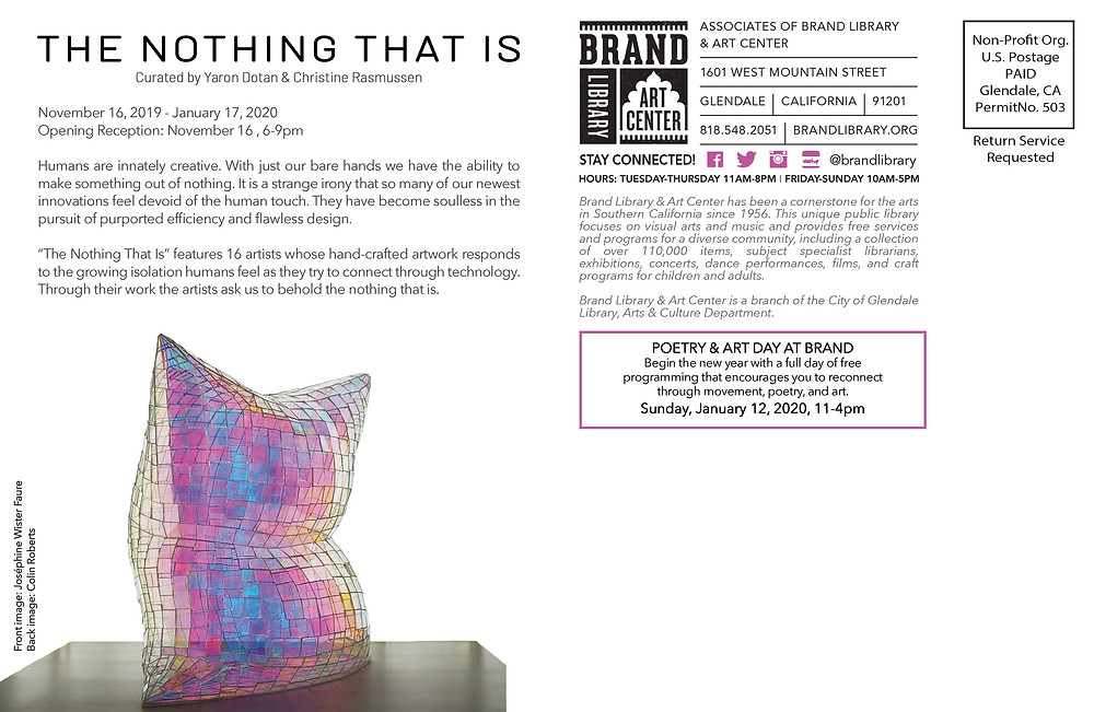Excited to be co-curating this fantastic show at the Brand Library with Christine Rasmussen