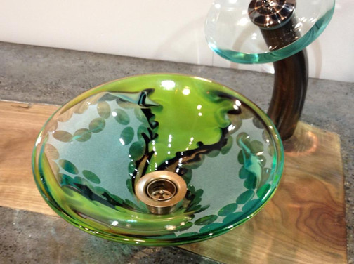Blown Glass Sink