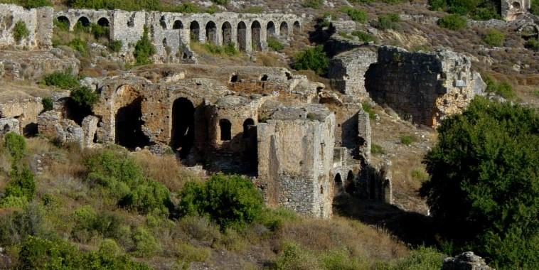 Античный город Анемуриум в Анамур, Мерсин.