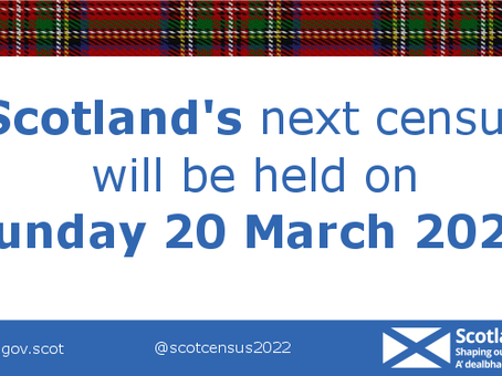 March 21st is Census day - but Scotland will have to wait