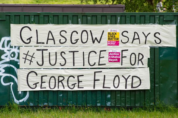 Banner - Glasgow Says Justice for George Floyd