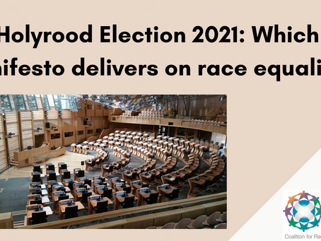 Holyrood Election 2021: Which manifesto delivers on race equality?