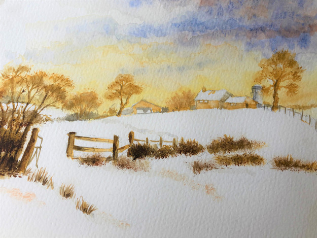 Winter Landscape - Watercolour