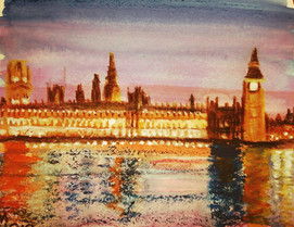 Westminster - Watercolour underpins crayons and Chalkola highlighters