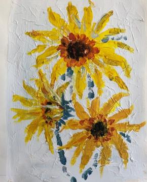 Sunflowers - acrylic
