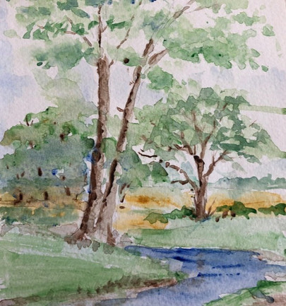New Forest Scene - Watercolour