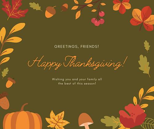 Heartwarming Thanksgiving Greeting Faceb