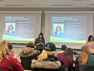 Students learn about public relations campaigns from LM Inc. President