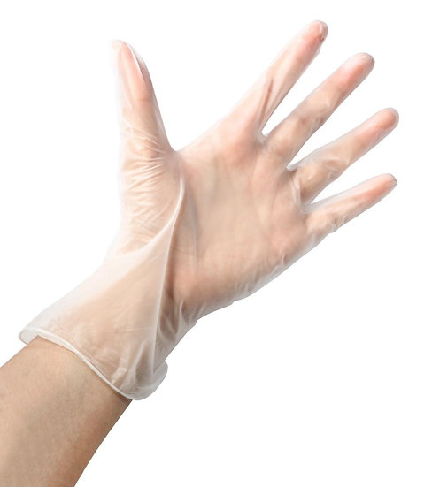 MediSafe Clear Vinyl Gloves - Box 100 (Case 10)
