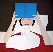 "Will Barnet ""Woman reading"""
