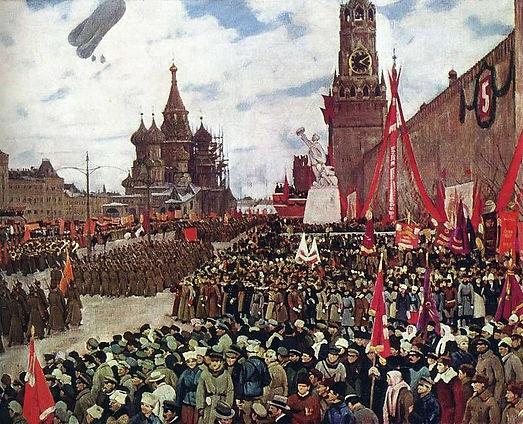 Константин Юон ''Парад Красной армии''