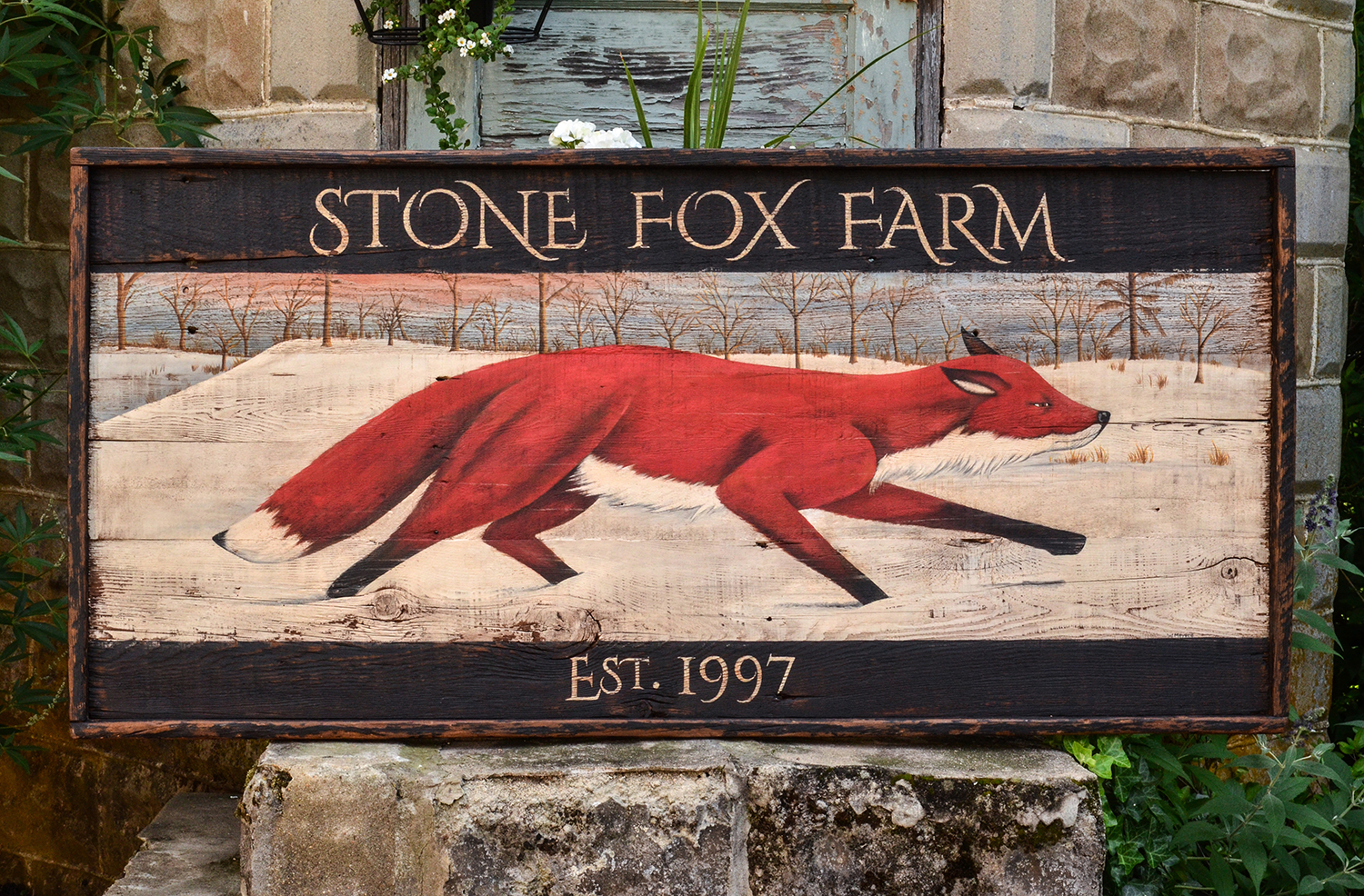 Stone Fox Farm Custom Sign