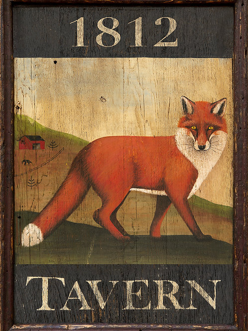 1812 Fox Tavern Sign
