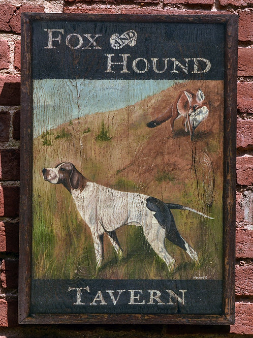Fox and Hound Tavern Sign Reproduction