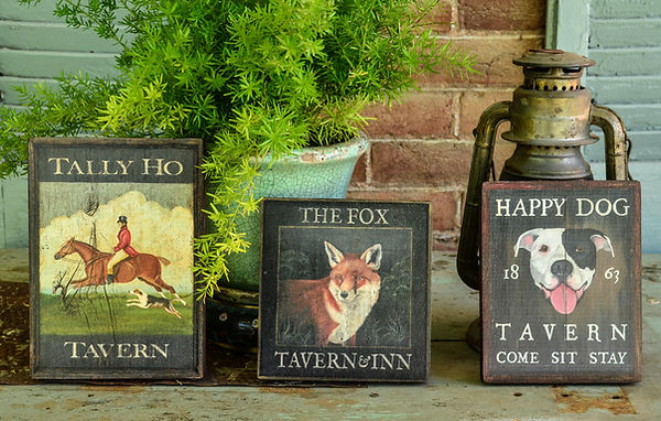 Miniature Reproduction Tavern Signs