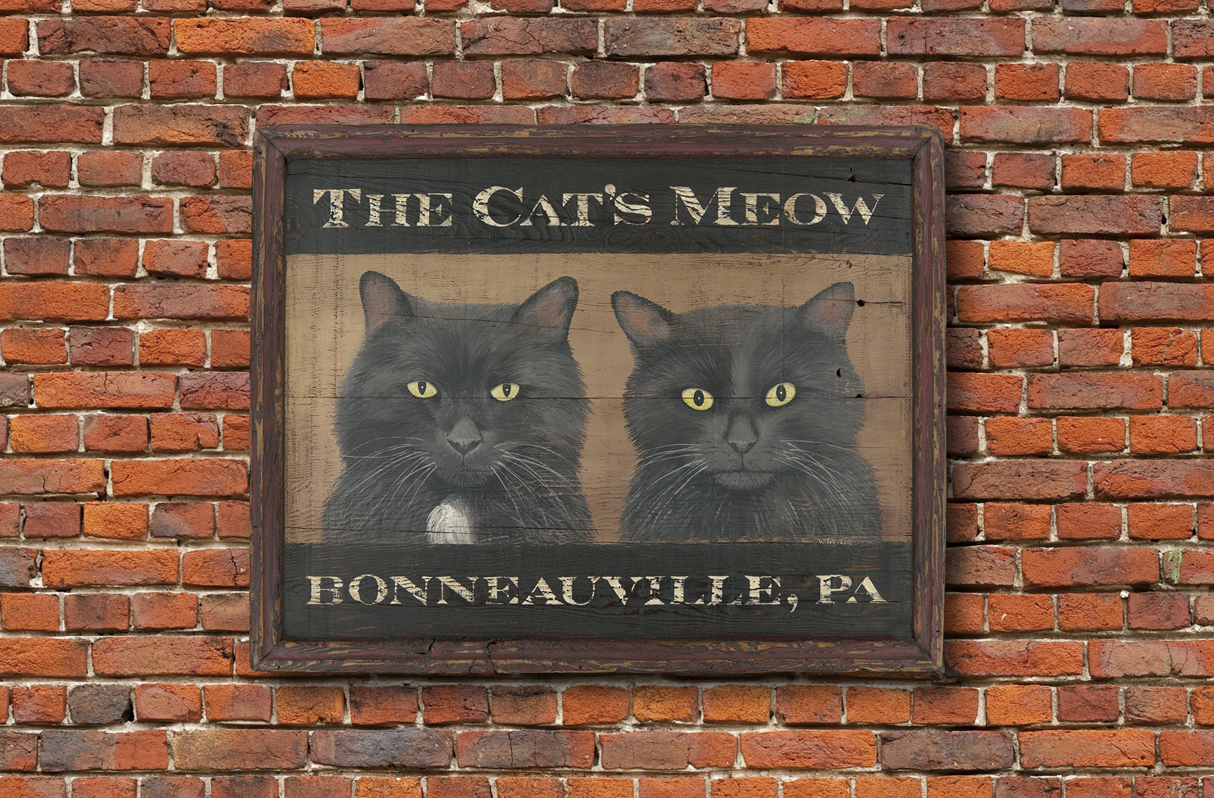 Cats Meow Tavern Style Sign
