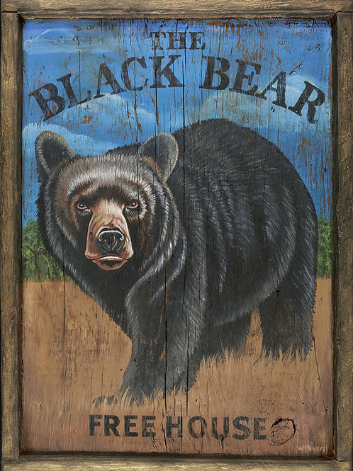 The Black Bear Freehouse Sign