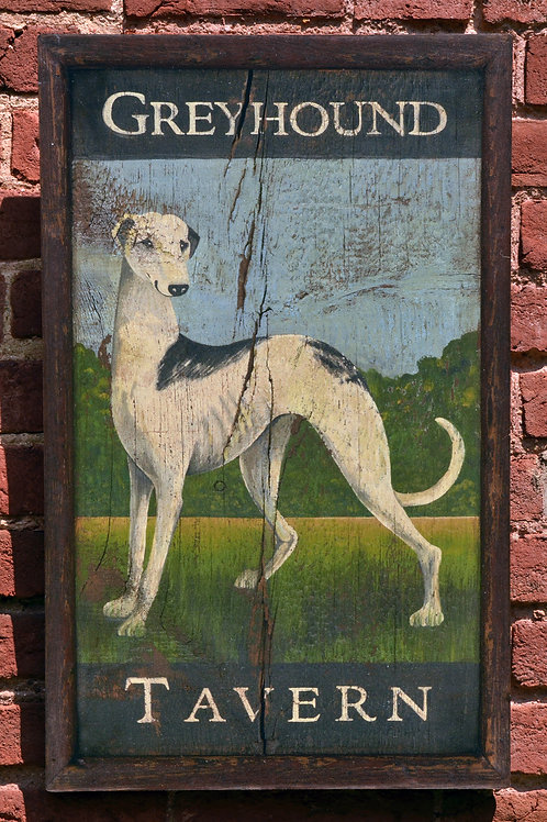 Greyhound Tavern Sign Reproduction
