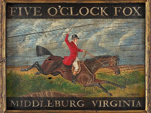 Five O'Clock Fox Sign - Middleburg, Virginia