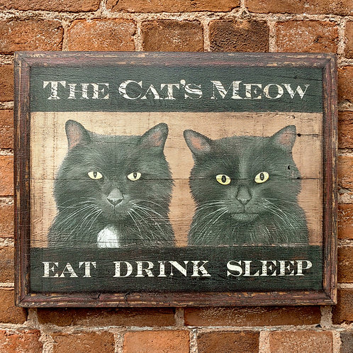 The Cat's Meow Sign