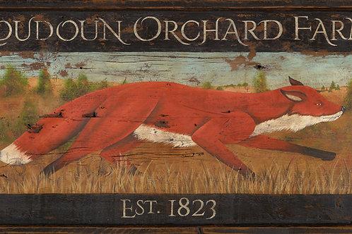 Loudon Orchard Farm Sign - Leesburg, Virginia