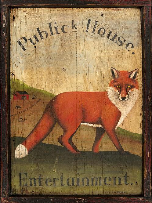 Fox Public House (Pub) Sign - Medium