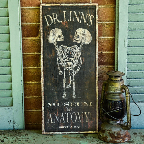 Dr. Linn's Museum of Anatomy Sign Reproduction