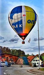Kurz vor de Landung in Attelwil