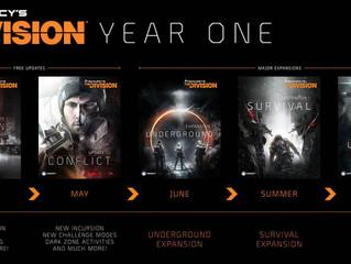 Lista Detalhada do 1º ano de DLCs e Updates para The Division