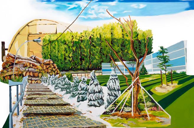 A Change of Seasons, 2020 Oil on wood panel  60.96 X 91.44 cm