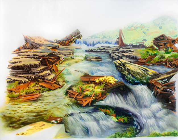 A Postcard, 2019  Oil on Canvas 121.92 X 152.4 cm