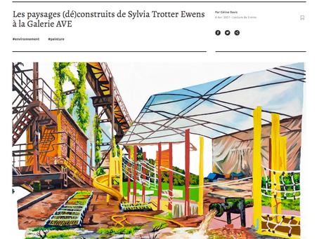 Article in Vie des arts: Les paysages (dé)construits de Sylvia Trotter Ewens à la Galerie AVE