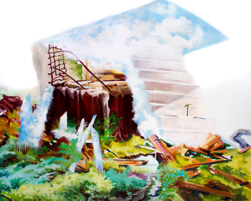 Past Grandeur, 2018 Oil on Canvas 121.92 x 152.4 cm