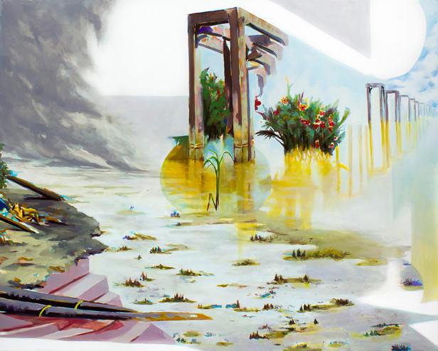 Distant Oasis, 2018  Oil on canvas  121.92 x 152.4 cm
