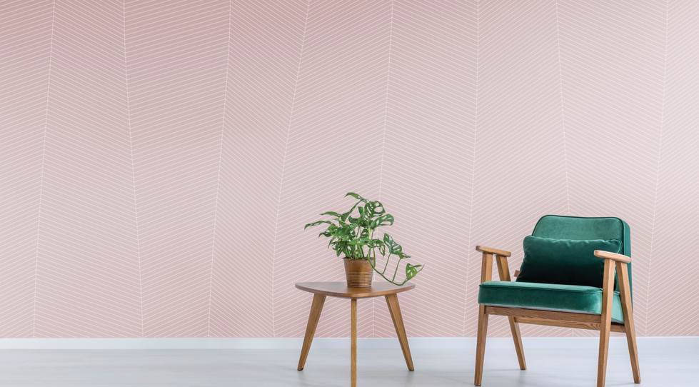 Strata - Rose Quartz on Wallcovering