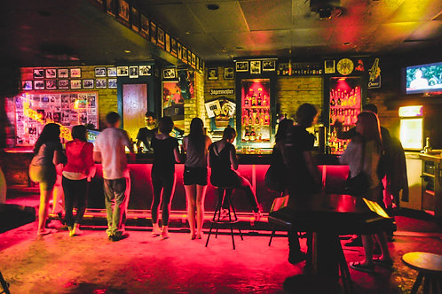 Red & Yellow Shot of the Bar - Photo Print