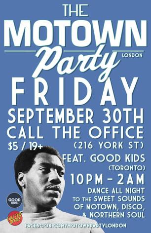 Motown Party London Sep 30 2016