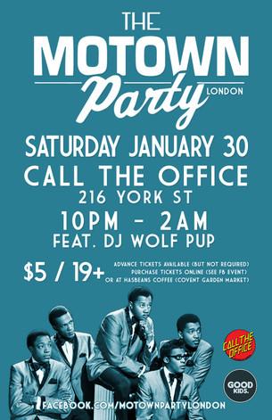 Motown Party London Jan 30 2015