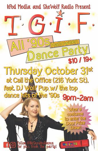 TGIF ALL '90s Dance October 31 2019