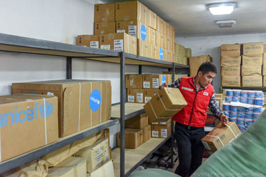 Humanitarian aid for the Osh infectious disease hospital.